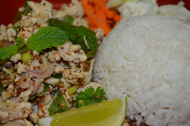 23. LARB (CHOICE OF CHICKEN, BEEF OR PORK)